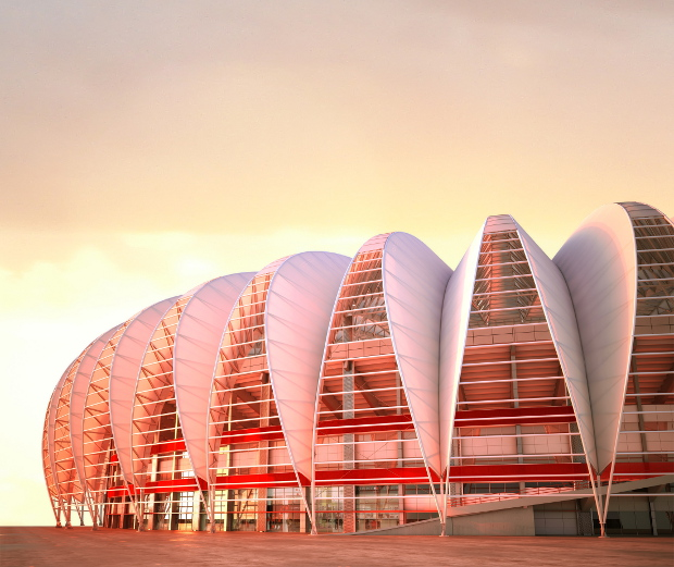 Ptfe Coated Glass Fabric Roof For The World Cup