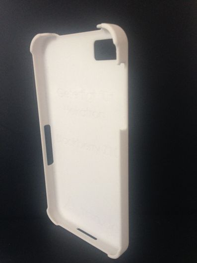 Mobile phone case using laster sintering powder Laser PP CP 22