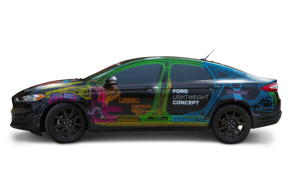 Polycarbonate Rear Window Of Ford Fusion Is 35 Lighter