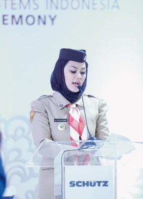 The Vice Regent of Karawang, Dr. Cellica Nurrachadiana