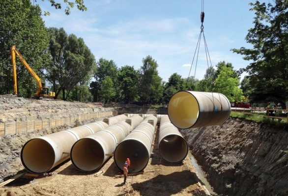 GRP Pipes DN 3600 during installation