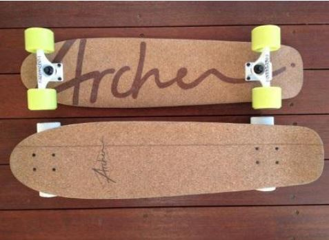 cork composite skateboard