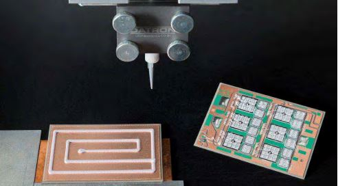 thermally conductive silicone adhesive bonds parts mechanically