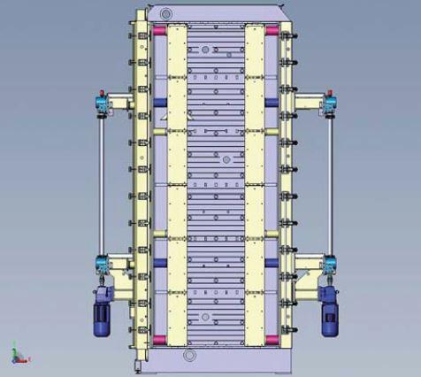 Frontal view of Antibending block moulding machine (source: Erlenbach)