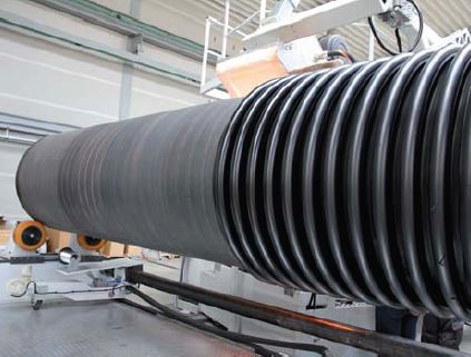 winding of corrugated pipe
