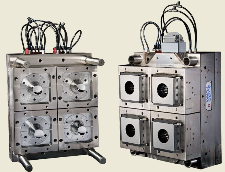 Swiss-made mould making for IML: Four-cavity high-performance mould from Glaroform (photo source: Glaroform AG)