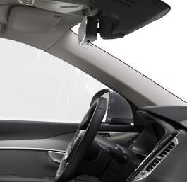 Volvo XC90 interior with : IntelliSafe Part on top-right
