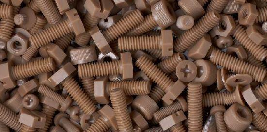 Screws made from Vestakeep PEEK