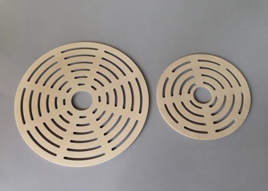 Valve plates made of Victrex PEEK 450GL30 (source: Victrex)