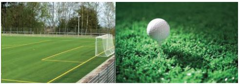 Applications of artificial turf: football and golf