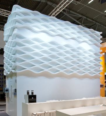 Indoor design using Basotec resin foam