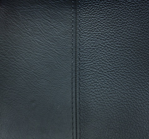 A leather-grain effect, including seam, can also be created with Softell and the appropriate injection mould.