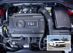 BASF's sound-absorbing Basotect® TG melamine foam is now being used for the acoustic layer in the Volkswagen EA888 engine for the Jetta, Golf, Passat, Tiguan, and Beetle models produced in North America (Source: BASF)