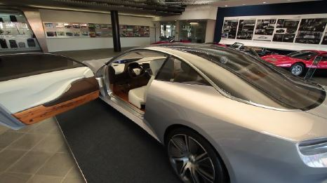 concept car with PMMA glazing