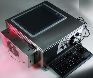 Stainless steel NEMA4 box with touch-screen