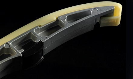 Low-friction slide shoes within the timing system