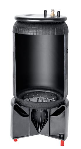 air spring with integrated buffer support