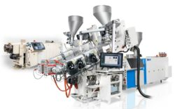 Coextrusion system for PVC profiles
