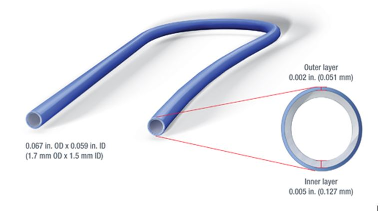 Multi-layer catheter tube with active pharmaceutical ingredients